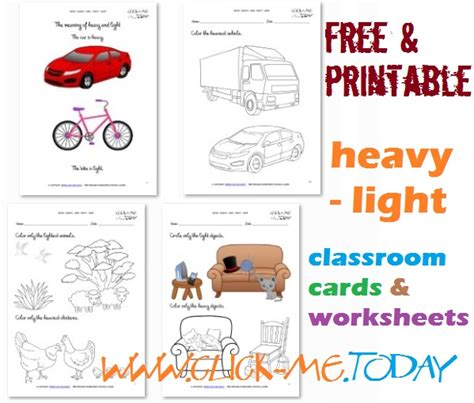 heavy and light lesson plan kindergarten heavy light cards worksheets coloring pages for