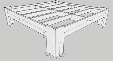 King Size Bed Frame Measurements King Size Bed Plans Dimensions Plans Free