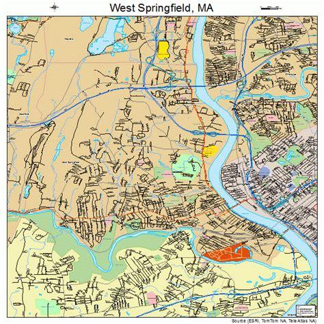 west springfield west springfield massachusetts map 2577885