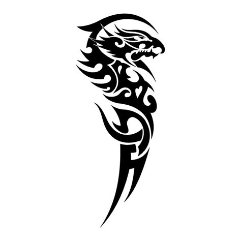 black and white dragon tattoo cliparts co