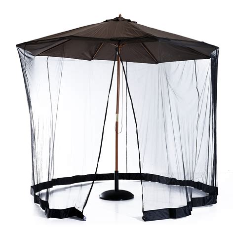 Patio Umbrella Mosquito Net Outsunny 7 5 Outdoor Umbrella Mosquito Net Black Patio Umbrellas Outdoor Living Outdoor