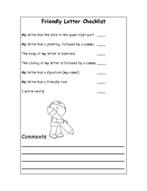 list poem template friendly letter writing checklist self assessment tpt