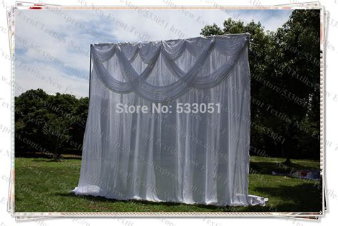 backdrop drapes free shipping 3x3m elegent white with swag pleated drapes