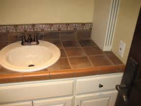 Bathroom Tile Countertop Ideas by Garret Home Remodel With Spanish Ceramic Tile