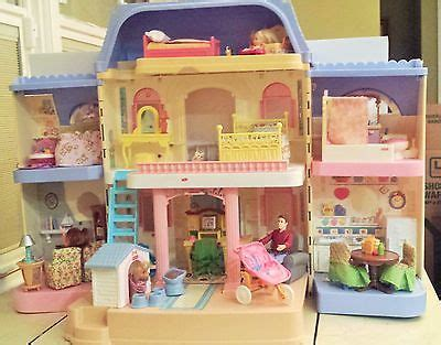 fisher price grand doll house 1997 fisher price loving family grand doll house people furniture accessories