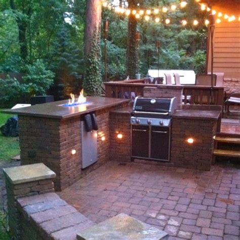 Diy Outdoor Fire Bar And Grill Station Favorite Places Backyard Grill Bar