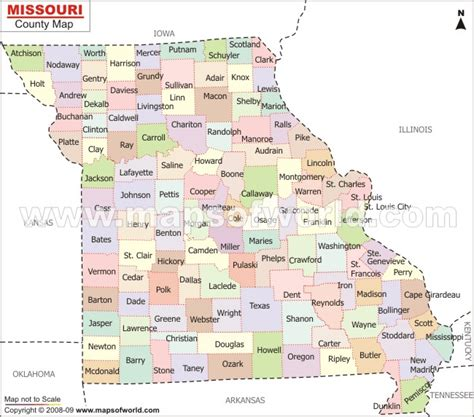 map of us states missouri missouri map and missouri satellite image