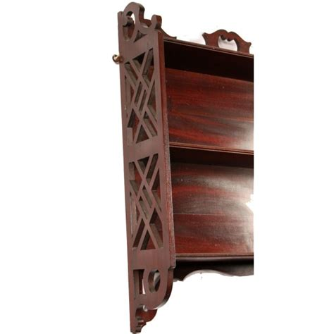 Chippendale Wall Shelf antique chippendale style wall shelves antique mahogany wall shelves
