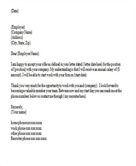 acceptance letter sample for job offer amitdhull co