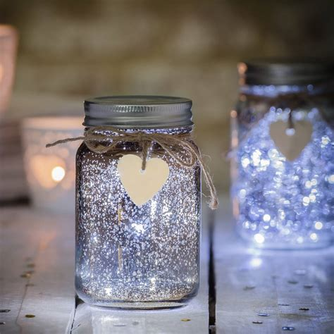 Jam Led sparkle led jam jar light by thelittleboysroom notonthehighstreet
