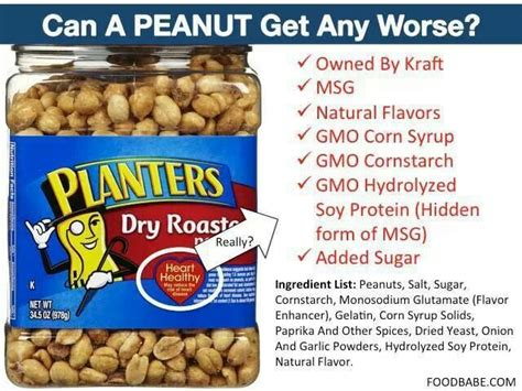 Planters Peanuts Gmo planters peanuts gmo bad stuff planters