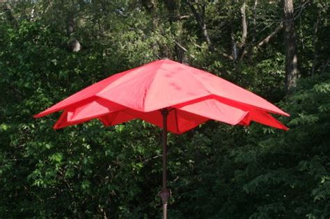 Wind Resistant Patio Umbrella 9 Wind Resistant Lotus Fiberglass Patio Umbrella Outdoorandabout
