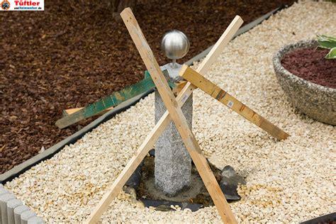 gartendeko granitsaeule und beton deko selbst