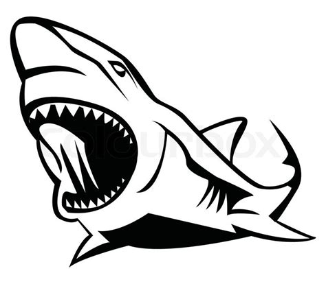 shark outline tattoo vicious outline shark design tattooimages biz