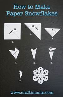 How To Make Hanging Paper Snowflakes - how to make a six sided paper snowflake by craftiments