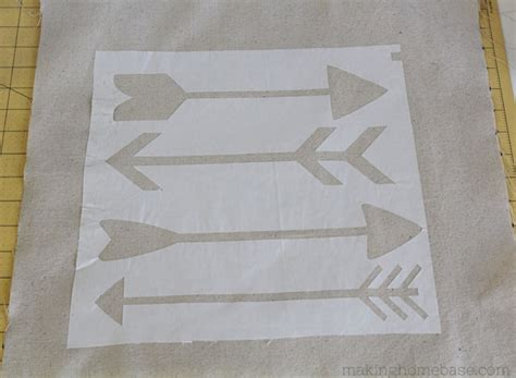 How To Make Paper Stencils - diy stenciled arrow pillow a simple easy to follow tutorial