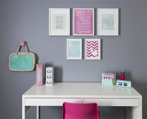 10 year old girl bedroom girl s bedroom desk with pink white mint accessories