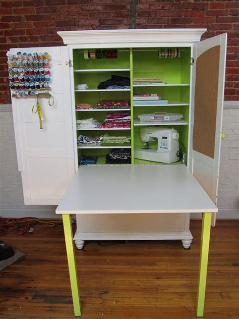 Diy Sewing Table With Storage Woodworking Projects Plans Diy Sewing Desk