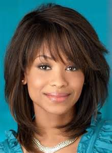 layered hairstyles with bangs for americans that hairs thinning out sweet layered bob hairstyle mid lenght straight capless