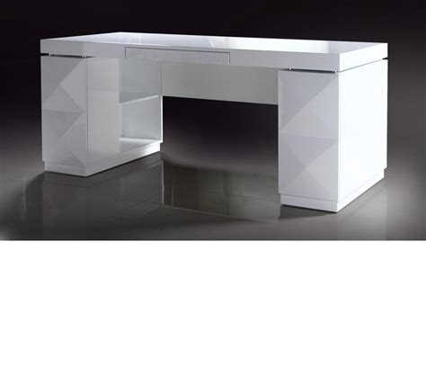 White Lacquer Vanity by Dreamfurniture Vanity White Lacquer Modern Desk