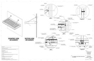 awning construction details entrance overhead canopy details commercial metal