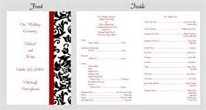 Baptist wedding program wording 100 personalized custom damask wedding