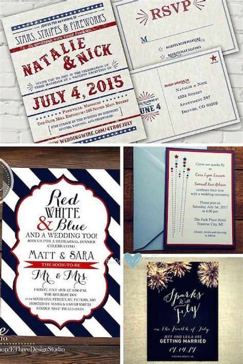 wedding invitations american impressive 4th of july wedding ideas get married american style
