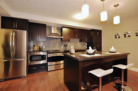 Condo Kitchen by Reflections At Laurelwood Waterloo Model Condo Designed To Sell Rooms In Bloom Home Staging