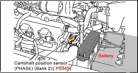 p  nissan murano camshaft position sensor circuit
