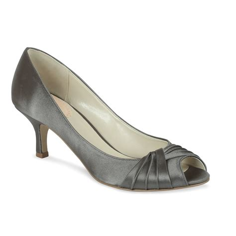 paradox pink peep toe shoes in gray lyst