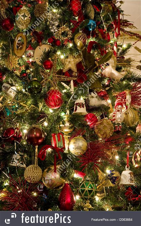 decorations on christmas tree image
