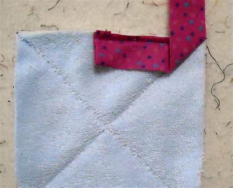 Patchwork Binding - patchwork pie quilt binding by machine