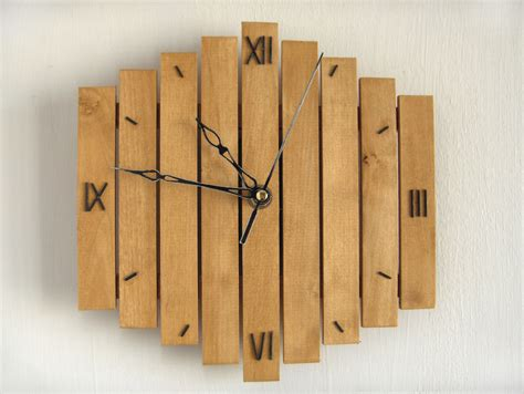Wood Handmade - wall clock wooden wall clock decor mid century clock