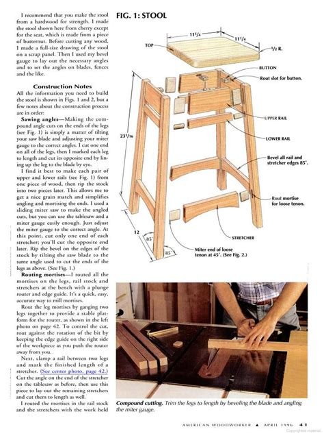 Free Woodworking Plans For Bar Stools