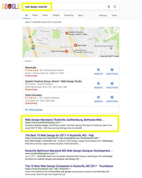 Md Search Website How Top Maryland Seo Company Achieves Page For Local Business