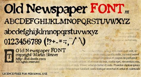 newspaper theme custom fonts old newspaper font dafont com