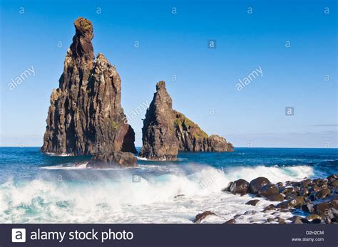 near porto moniz is the coastal rocky outcrop of the