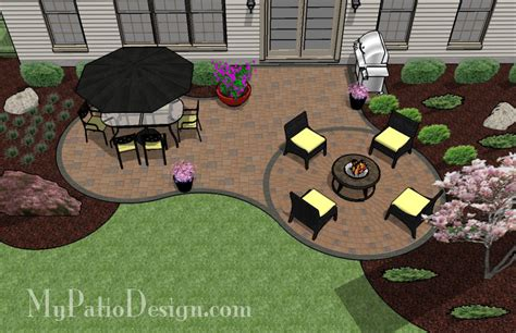 Simple Curvy Patio Tinkerturf Free Backyard Landscaping Ideas