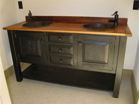 Bathroom Vanity Furniture Pieces Reclaimed 100 Year Barn Wood Was Used In This Bathroom Vanity By E Braun Farm