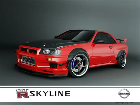 nissan skyline nissan skyline r34 modified