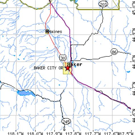 map of oregon baker city baker city oregon or population data races housing