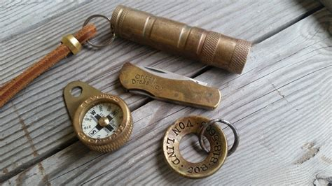 Edc Putih forcing patina on brass edc craft and lore