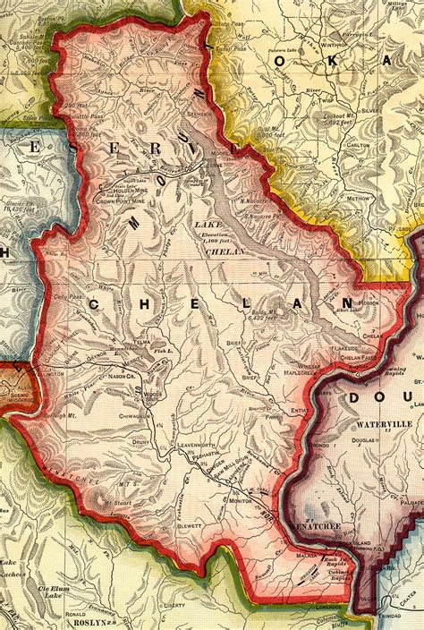 Chelan County Records Washington County Map