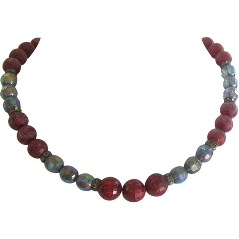 vintage glass bead necklace vintage multi color glass bead necklace from shopveronica