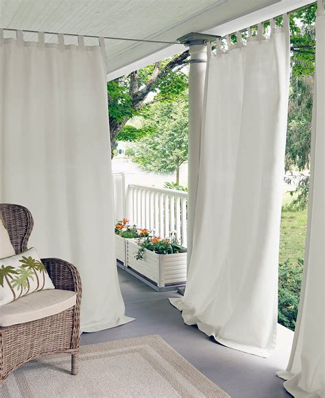 white outdoor curtains pretty indoor outdoor curtains homesfeed