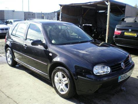 black volkswagen golf used black volkswagen golf 2003 petrol 1 6 match 5dr auto
