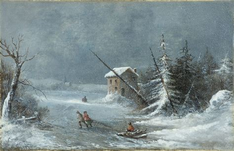 the blizzard file the blizzard on canvas painting by cornelius krieghoff c 1860 jpg