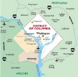 Of Washington Dc District Of Columbia Map