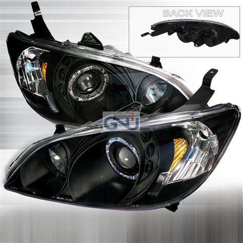 Headl Civic White Projector 2004 2005 1 honda civic 2004 2005 projection light and led rear clickbd