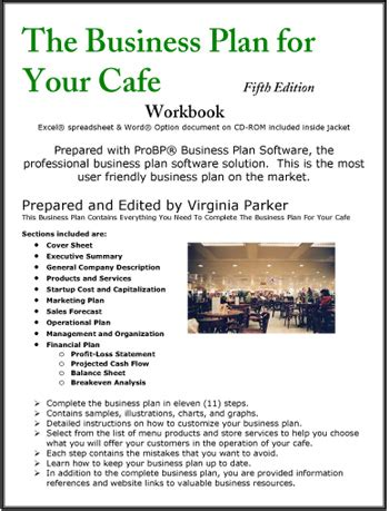 Cafe Business Plan Template The Business Plan For Your Cafe Coffee House Coffee Shop